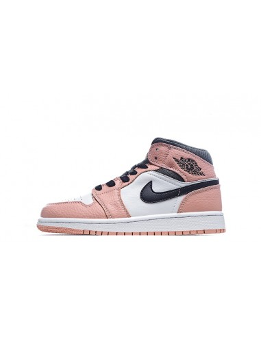 "Air Jordan 1 Mid GS ""Pink Quartz"""