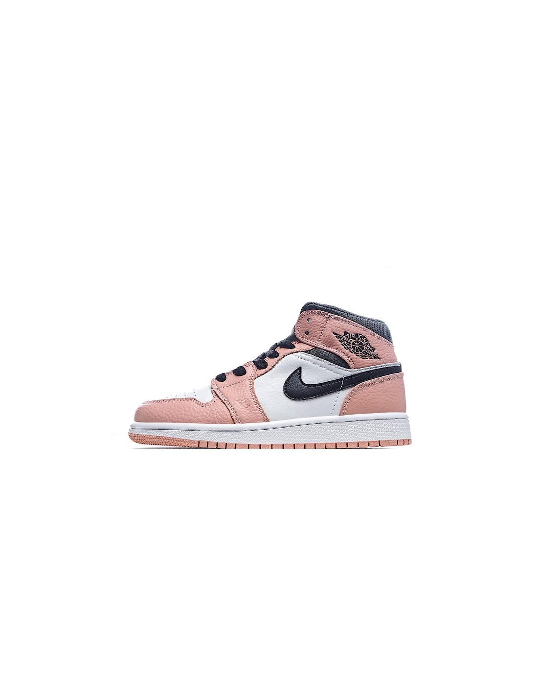 """Air Jordan 1 Mid GS """"Pink Quartz"""" pour Femme"""