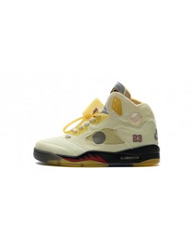 """Air Jordan 5 Retro SP x Off-White """"Sail"""""""