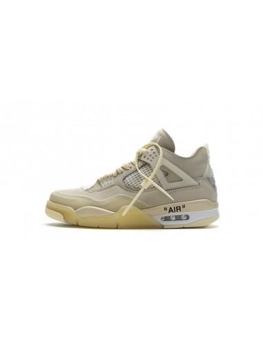 """Air Jordan 4 Retro x Off-White """"Sail"""""""