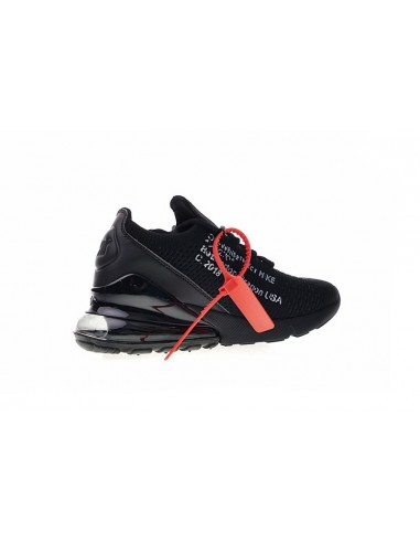 Off White x Nike Air Max 270 Flyknit Black For Sale