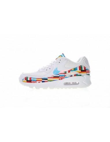 Discount Nike Air Max 90 NIC QS International Flag White