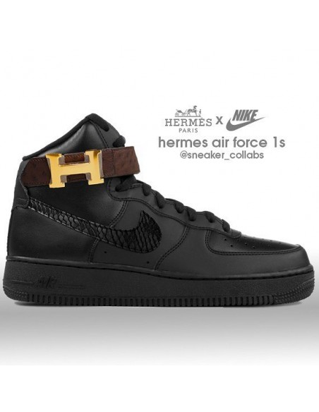 Nike Air Force 1 High X Hermes Midnight Custom Men S Women S Shoe