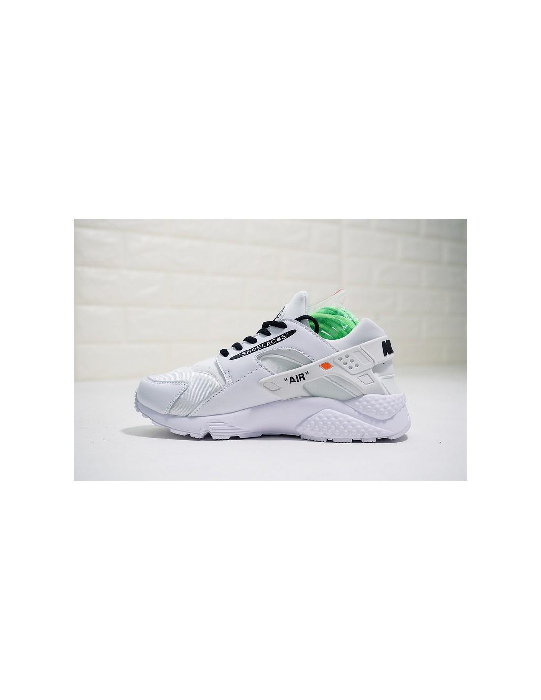 official photos 4c0ef 7a96b Pour Air Custom Nike Premium Homme amp  Femme Off X White Huarache Run  B1dW18q