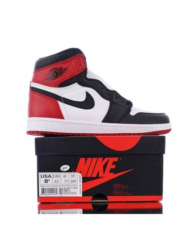 "100% authentic f3ea6 7b540 Air Jordan 1 Retro High OG ""Black Toe"""