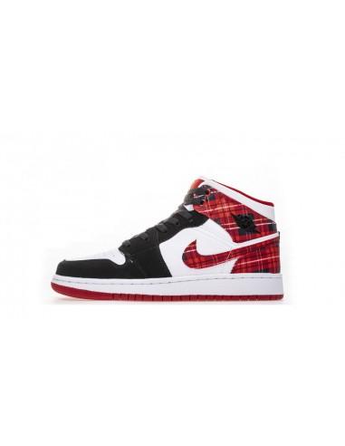 "Air Jordan 1 Mid GS ""White Plaid"" Women s Shoe 9b28e20e5"