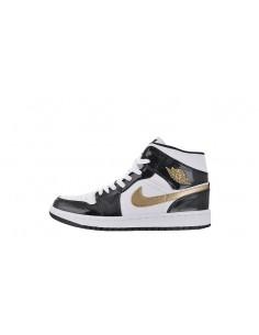 """Air Jordan 1 Mid """"Patent Gold"""""""