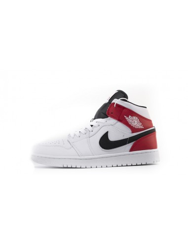 air jordan 1 mid blanc rouge