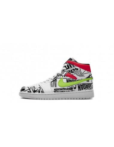 """ec8d9c7ea6 Air Jordan 1 Mid """"All-Over Logos"""" Men's Shoe"""