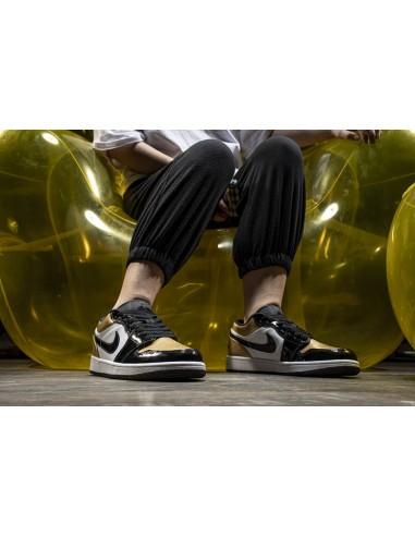 """Air Jordan 1 Low """"Gold Toe"""" Men's Shoe"""
